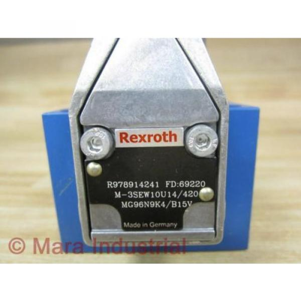 Rexroth Germany Italy Bosch R978914241 Valve M-3SEW10U14/420MG96N9K4/B15V - New No Box #2 image