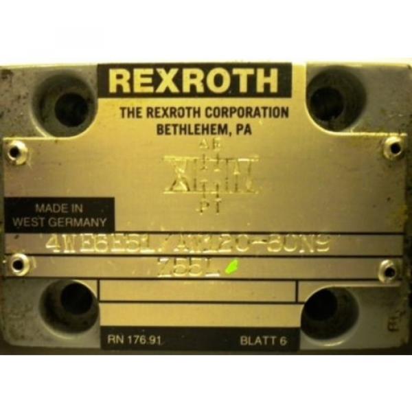 REXROTH Canada Japan VALVE 4WE6E51/AW120-60N9 #2 image