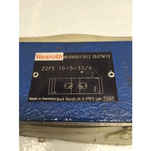 Rexroth India Japan Z2FS-10-5-33/V D05 Hydraulic Dual Flow Valve (B49) #2 image