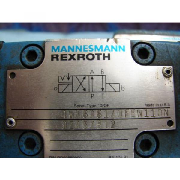 REXROTH China Greece DIRECTIONAL VALVE # H 4WEH22HD74/OF6EW110N9 /  4WE6D61/OFEW11ON9Z45/B12 #3 image