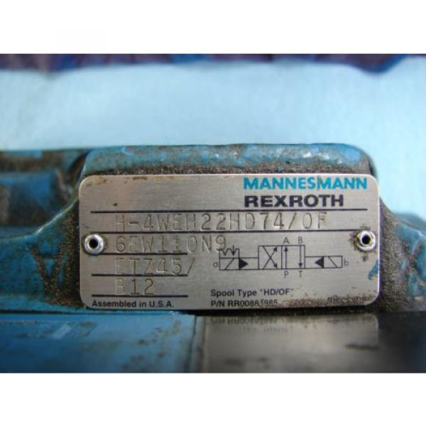 REXROTH China Greece DIRECTIONAL VALVE # H 4WEH22HD74/OF6EW110N9 /  4WE6D61/OFEW11ON9Z45/B12 #4 image