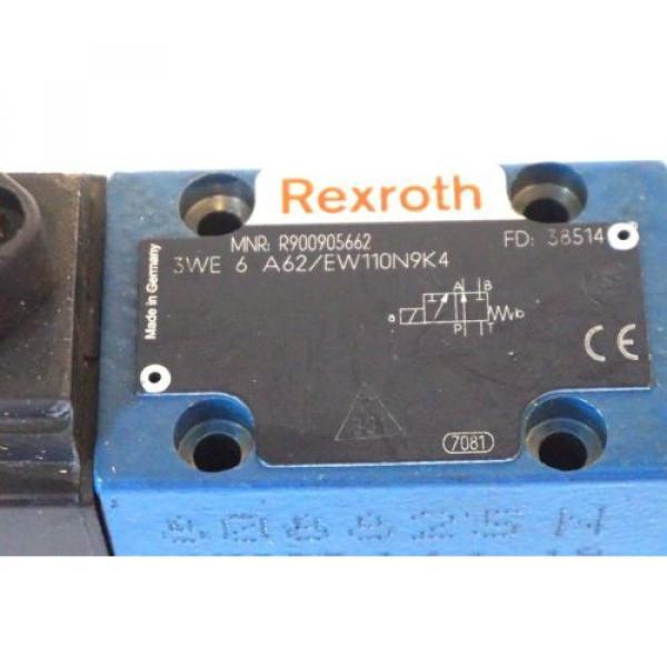 NEW USA Korea REXROTH 3WE-6-A62 / EW110N9K4 VALVE R900905662 3WE6A62EW110N9K4 #2 image