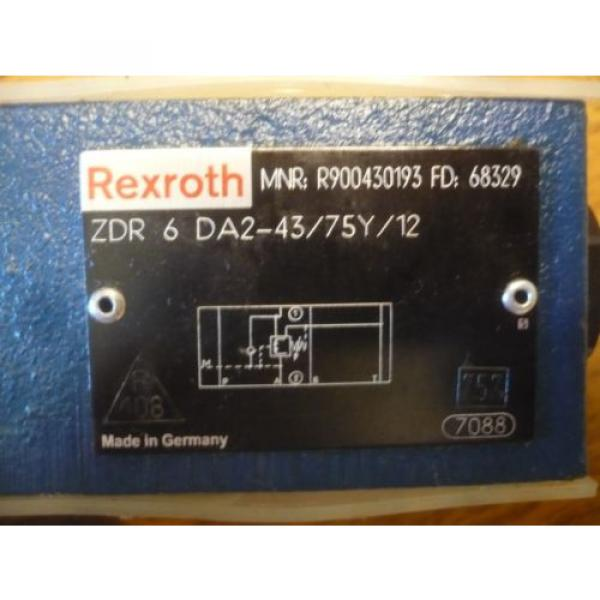 New China Russia Rexroth R900430193 ZDR 6 DA2-43/75Y/12 ZDR6DA2-43/75Y/12 Valve #3 image