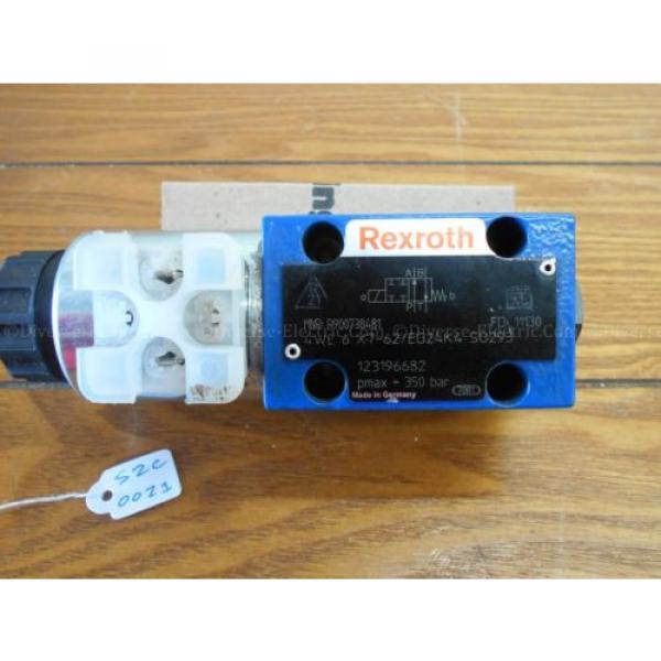 Bosch Italy china Rexroth R900738481 4WE6X7-62/EG24K4 Valve 350 Bar w/ R900221884 Solenoid #4 image