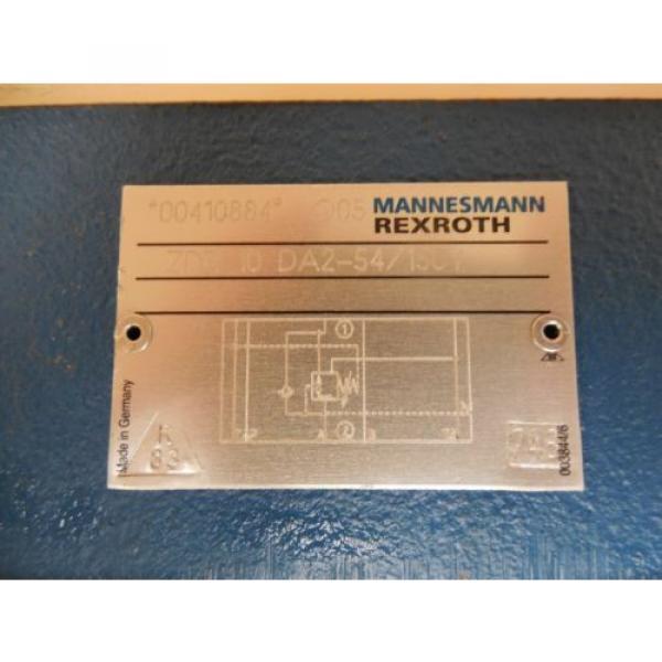 Mannesmann Germany USA Rexroth Pressure Reducing Hydraulic Valve ZDR 10 DA2-54/150 New #2 image