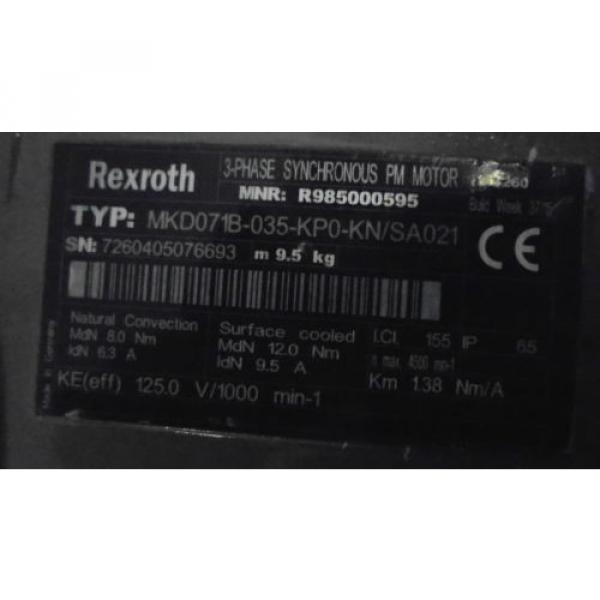 REXROTH USA Dutch MKD071B-035-KP0/KN PM MOTOR *NEW NO BOX* #1 image