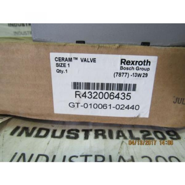 REXROTH France Canada CERAM VALVE RT32006435 GT-010061-02440 NEW #4 image