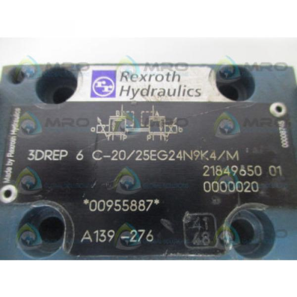 REXROTH Singapore Mexico 3DREP6C-20/25EG24N9K4/M PROPORTIONAL PRESSURE REDUCING VALVE *USED* #2 image