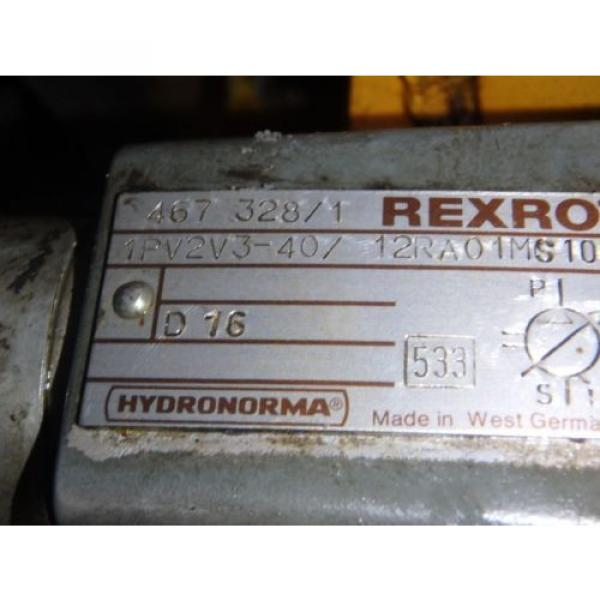 Rexroth Korea Canada Hydronorma Pump_1PV2V3-40/12RA01MS100 w/Motor #3 image