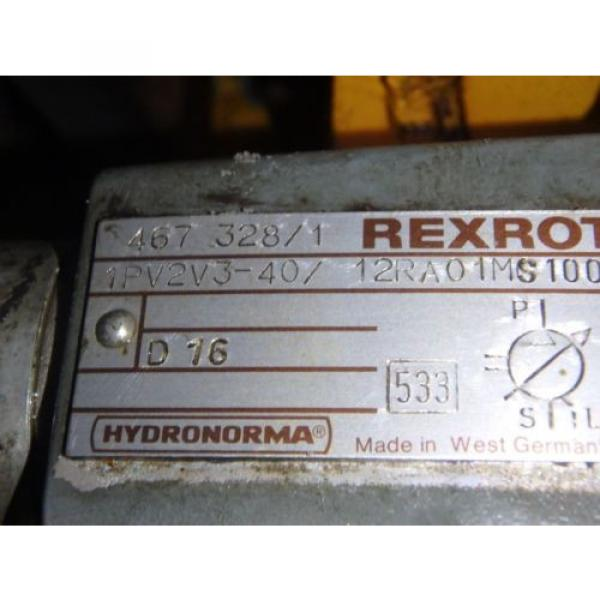 Rexroth Korea Canada Hydronorma Pump_1PV2V3-40/12RA01MS100 w/Motor #4 image