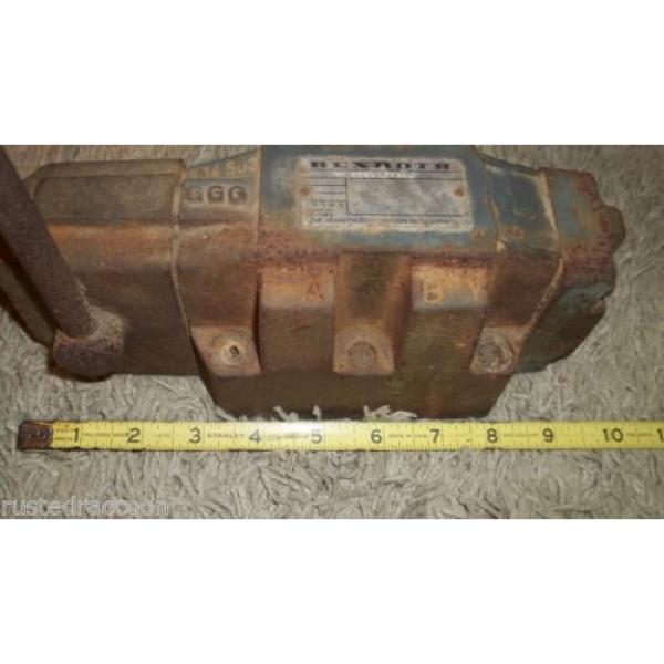 REXROTH Mexico Japan VALVE Made in Germany Vintage Tool Weighs Almost 19 pounds Barn Find #10 image