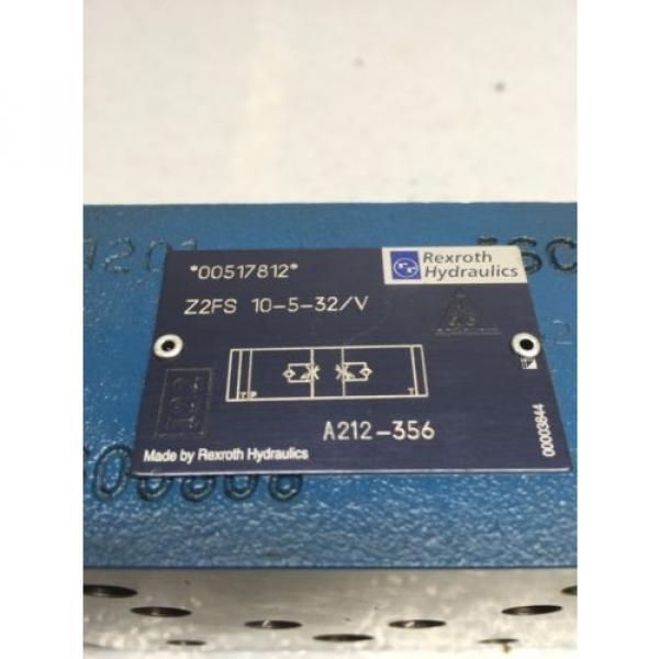 Rexroth Korea Singapore Z2FS 10-5-32/V Throttle Check Valve A212-356 (B49) #5 image