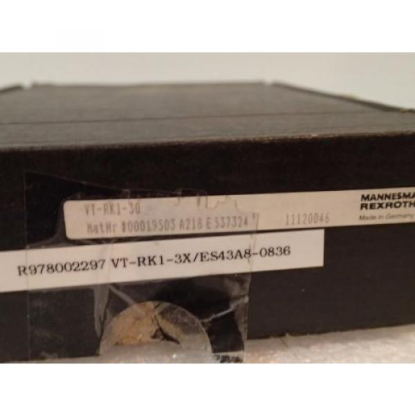 WARRANTY Russia France REXROTH RK1S 3X VT-RK1-30 3X ES43A8-0836 RELAY AMPLIFIER CARD #11 image