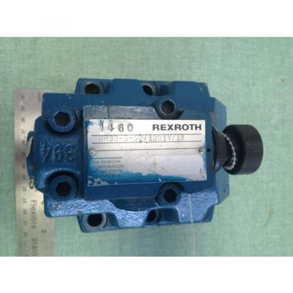 NEW India Canada OLD REXROTH DR30-5-52/100YV/12 HYDRAULIC VALVE #3 image