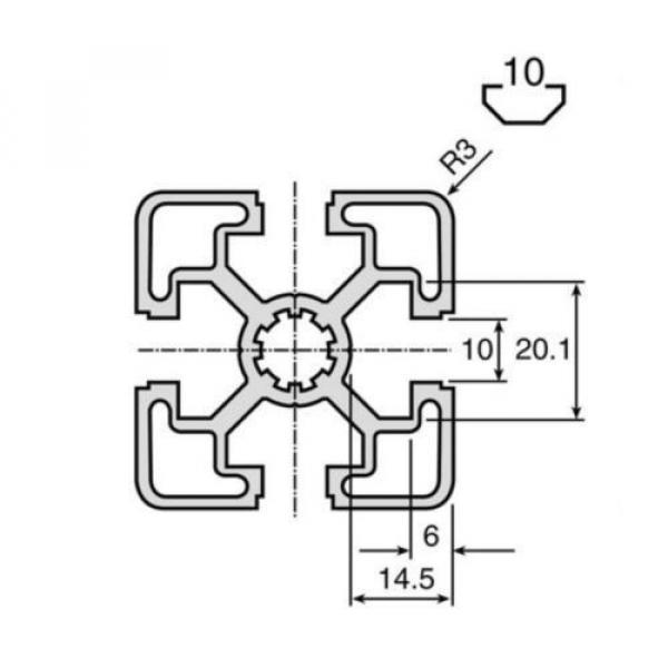 Bosch Australia Germany Rexroth Extrusion Aluminium (Cut to Length),10mm Groove,3000mm L, 45x45mm #2 image