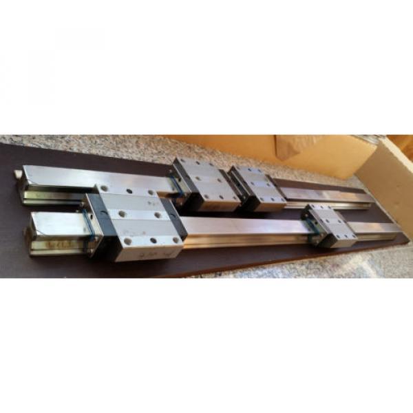 Bosch Rexroth 2x Linearführung 1520mm 4x Wagen R185143210 Linearführungen 45 #1 image