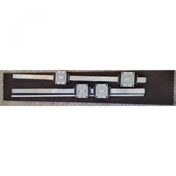 Bosch Rexroth 2x Linearführung 1520mm 4x Wagen R185143210 Linearführungen 45 #2 image