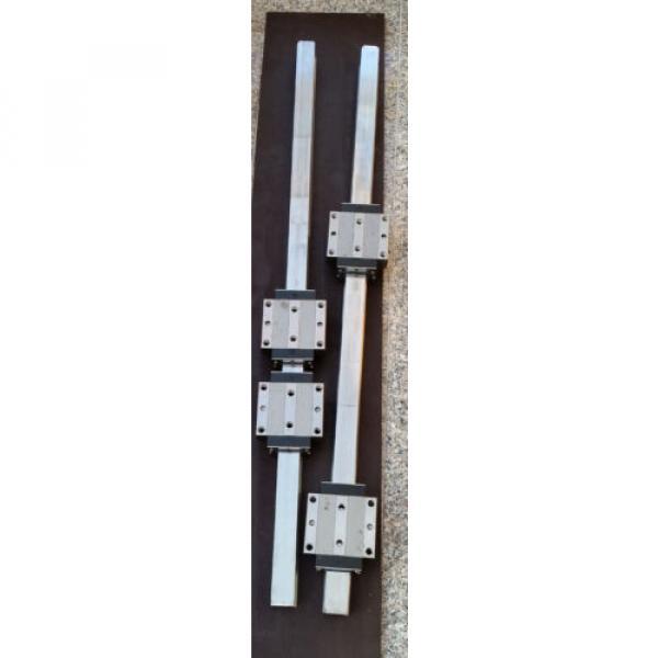 Bosch Rexroth 2x Linearführung 1520mm 4x Wagen R185143210 Linearführungen 45 #3 image