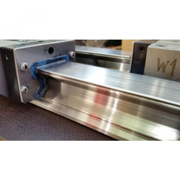 Bosch Rexroth korrosionsgeschützte Linearführung 2x 1520mm 4x Wagen R185143210 #4 image