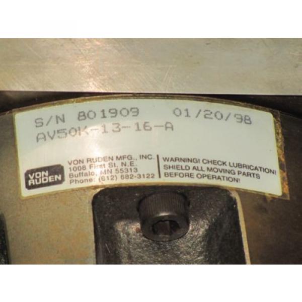 VON India Canada RUDEN HYDRAULIC MOTOR No. AV50K-13-16-A #4 image