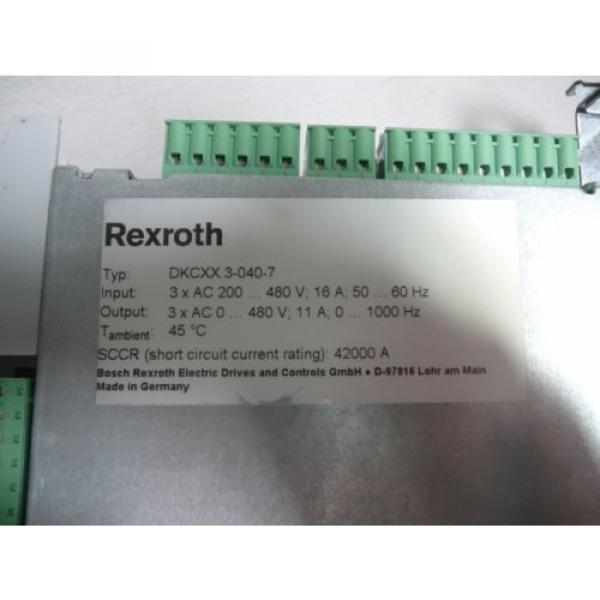REXROTH France Canada Ecodrive Series Servo - Model:  DKCXX.3-040-7 #2 image