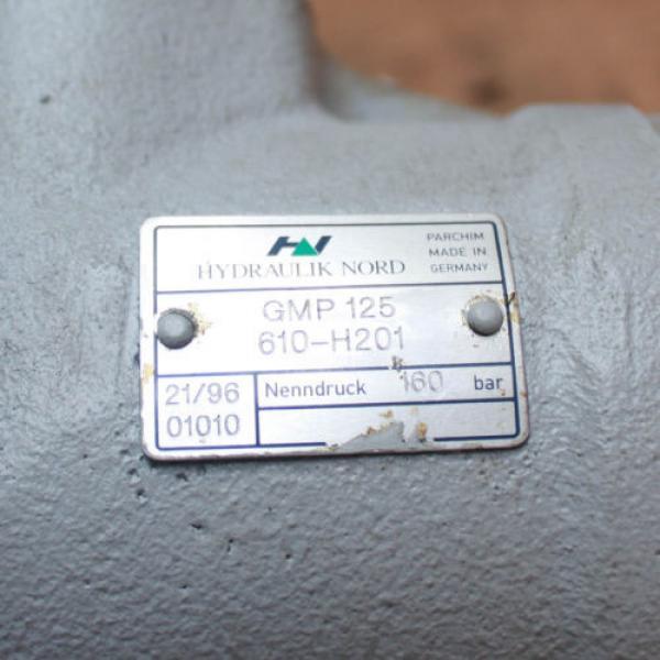 Rexroth Germany Dutch Hydraulik Nord GMP 125 610-H201 160 bar RN001 Hydraulic Motor #3 image