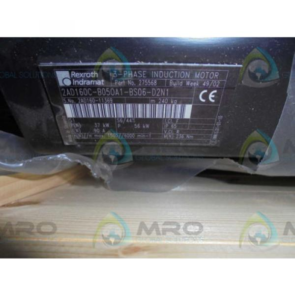 REXROTH Greece Canada INDRAMAT 2AD160C-B050A1-BS06-D2N1 SERVO MOTOR SPINDLE *NEW IN BOX* #1 image