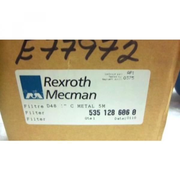 """REXROTH USA Canada MECMAN FILTER 5351 286 060 D48 1"""" METAL 5M 535 128 606 0 NEW 5351286060 #2 image"""