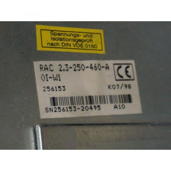 REXROTH Canada Canada RAC2.3-250-460-A0I-W1 SERVO SPINDLE DRIVE 256153, RAC23250460A0IW1 MF... #6 image