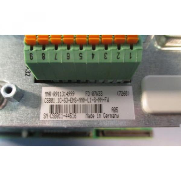 Rexroth France Canada R911314999 CSB01.1C-S3-ENS-NNN-L1-S-NN-FW Servo Controller Used #3 image