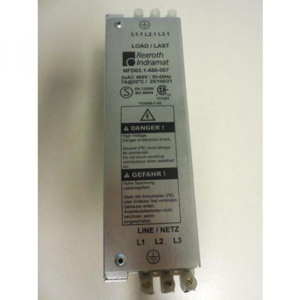 REXROTH Australia Korea INDRAMAT NFD03.1-480-007 LINE FILTER USED U4 #1 image