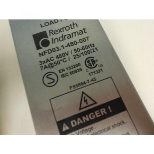 REXROTH Australia Korea INDRAMAT NFD03.1-480-007 LINE FILTER USED U4 #2 image