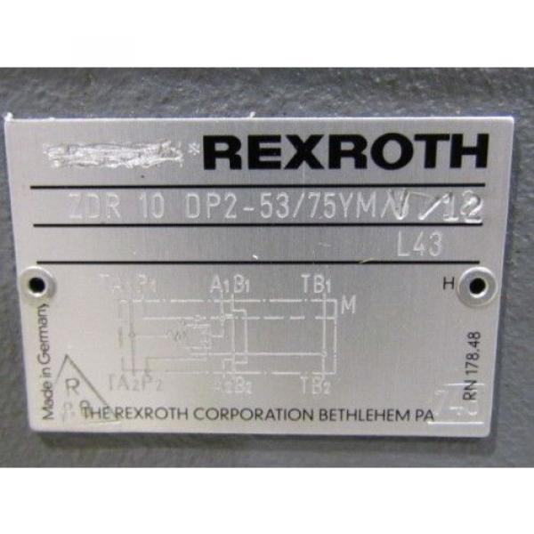 Rexroth France Singapore Pressure Reducing Valve ZDR 10 DP2-53/75YMV/12 #7 image