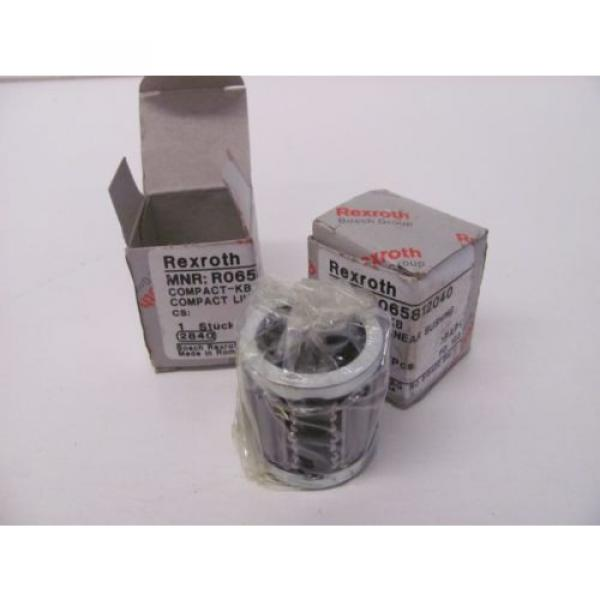 LOT Mexico Korea OF 2 REXROTH R065812040 COMPACT LINEAR BUSHING NIB!!! #1 image