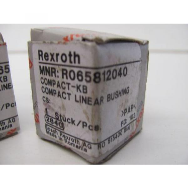 LOT Mexico Korea OF 2 REXROTH R065812040 COMPACT LINEAR BUSHING NIB!!! #2 image