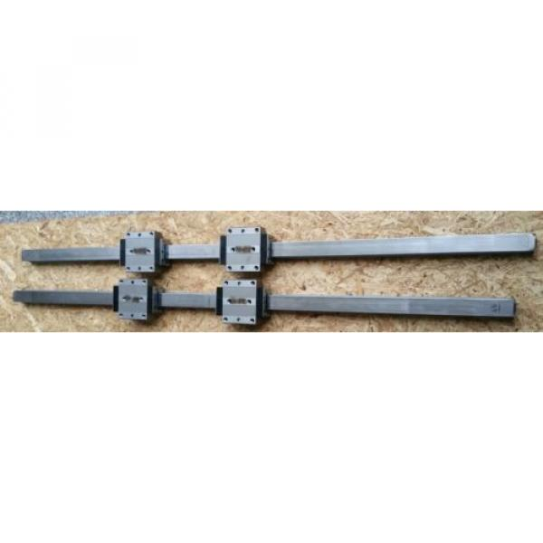 Bosch Rexroth korrosionsgeschützte Linearführung 2x 1520mm 4x Wagen R185143210 #1 image