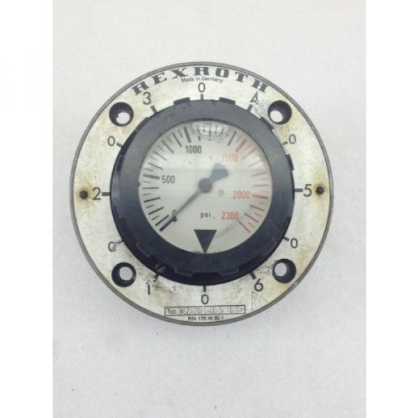 USED Singapore Russia  REXROTH PRESSURE GAUGE 0-2300 PSI  FAST SHIP!!! (B214) #1 image