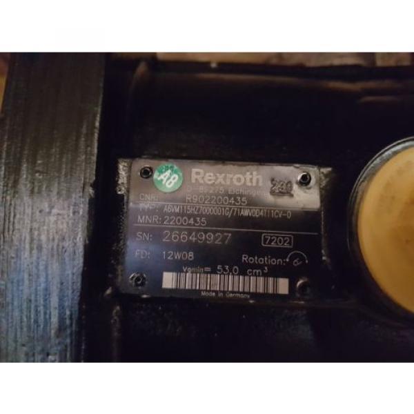 New Greece Mexico Rexroth Hydraulic Piston Motor A6VM115HZ7000001G/71AWV0D4T11CV0 / R902200435 #2 image