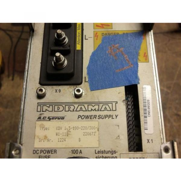 REXROTH India Canada INDRAMAT KDV1.3-100-115 POWER SUPPLY AC SERVO CONTROLLER DRIVE #2 image