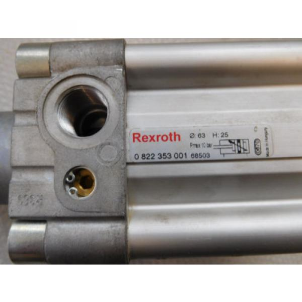 Rexroth Germany Egypt 0822 353 001 Pneumatic Cylinder Hub 25mm, Pistons ⌀63mm, Piston Rod 20mm #3 image