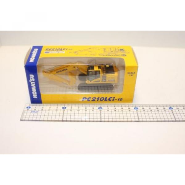 KOMATSU 1:87 WA380-8 WHEEL LOADER  PC210LCi-10 EXCAVATOR D61PXi-23 JAPAN Limited #7 image