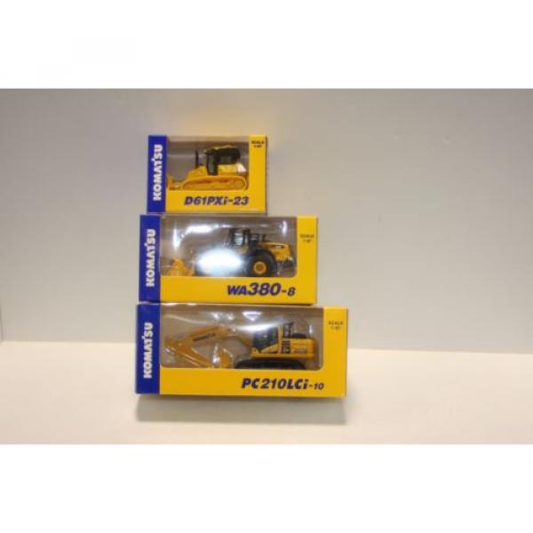 KOMATSU 1:87 WA380-8 WHEEL LOADER  PC210LCi-10 EXCAVATOR D61PXi-23 JAPAN Limited #1 image