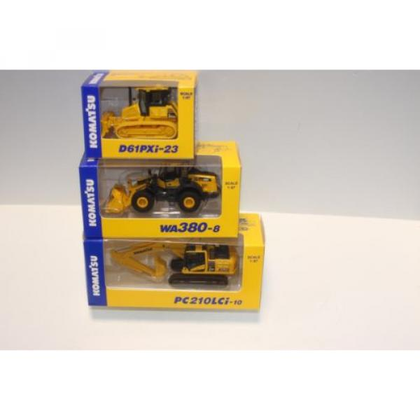 KOMATSU 1:87 WA380-8 WHEEL LOADER  PC210LCi-10 EXCAVATOR D61PXi-23 JAPAN Limited #2 image