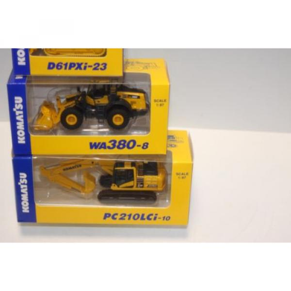 KOMATSU 1:87 WA380-8 WHEEL LOADER  PC210LCi-10 EXCAVATOR D61PXi-23 JAPAN Limited #3 image