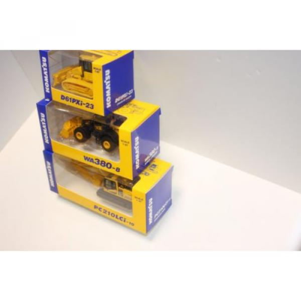 KOMATSU 1:87 WA380-8 WHEEL LOADER  PC210LCi-10 EXCAVATOR D61PXi-23 JAPAN Limited #4 image