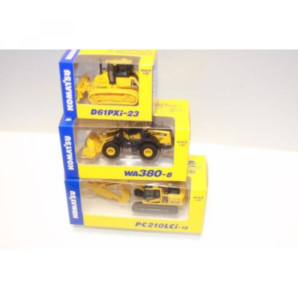 KOMATSU 1:87 WA380-8 WHEEL LOADER  PC210LCi-10 EXCAVATOR D61PXi-23 JAPAN Limited #5 image