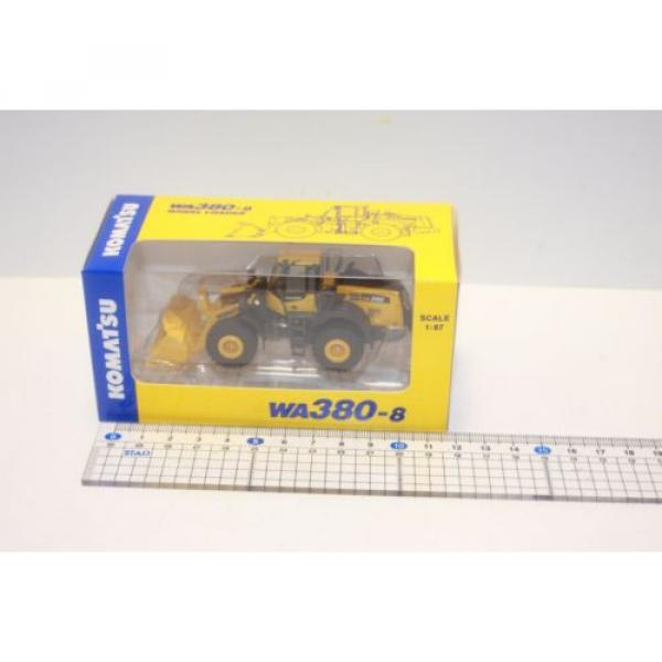 KOMATSU 1:87 WA380-8 WHEEL LOADER  PC210LCi-10 EXCAVATOR D61PXi-23 JAPAN Limited #8 image