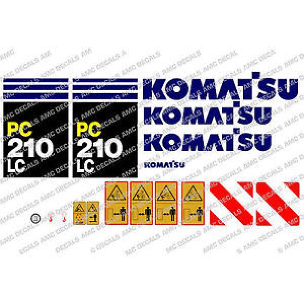 KOMATSU PC210LC DIGGER DECAL STICKER SET #1 image