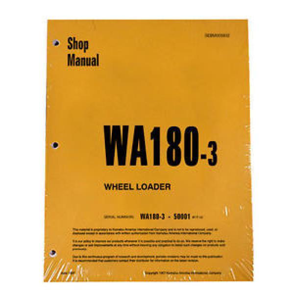 Komatsu WA180-3 Wheel Loader Service Repair Manual #1 image