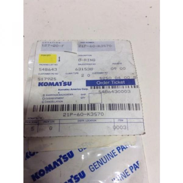 *New* Komatsu O-Ring P/N: 21P-60-K3570 *Warranty**Fast Shipping* #2 image